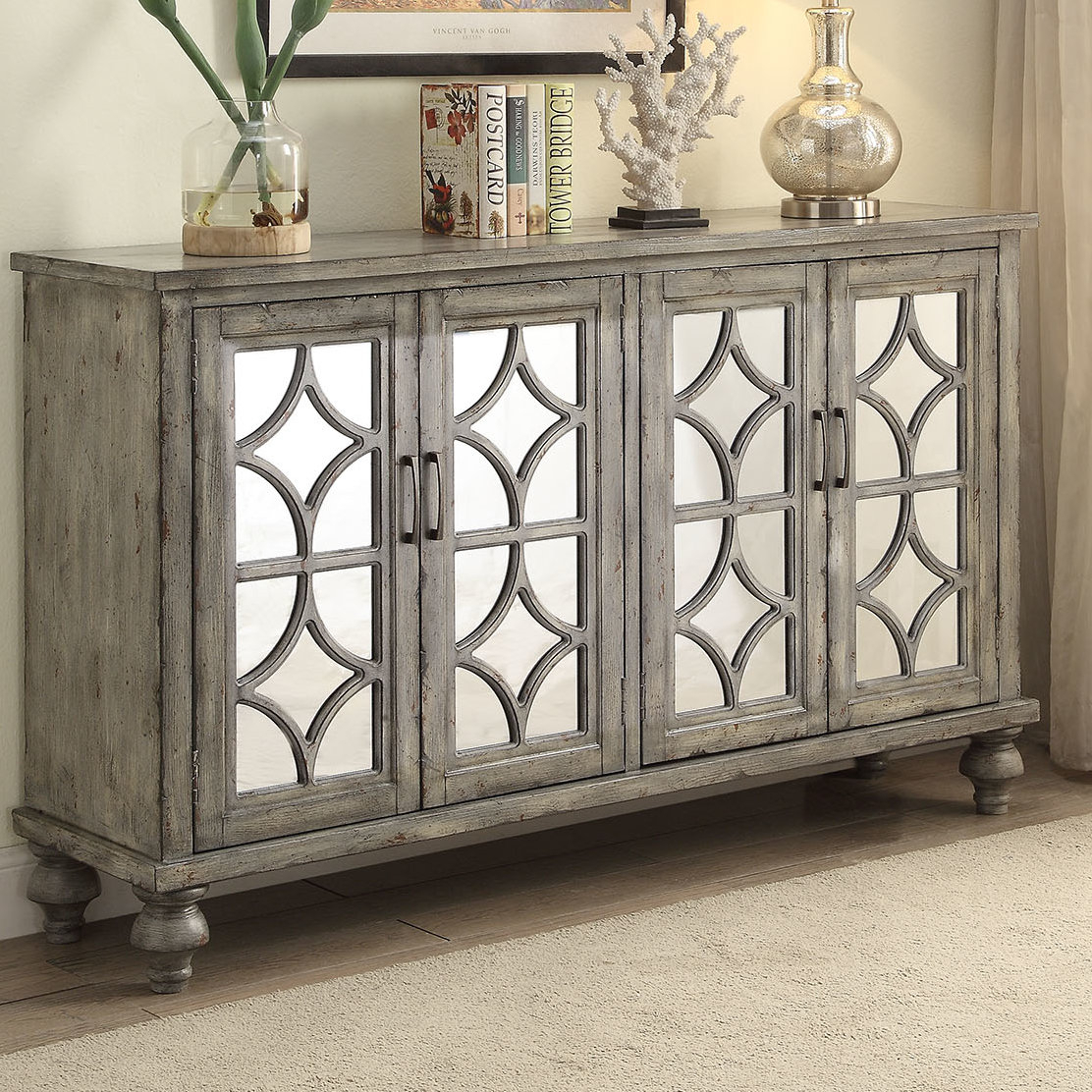 Inspiration about 4 Door Accent Cabinet | Wayfair Intended For Latest Kara 4 Door Accent Cabinets (#6 of 20)
