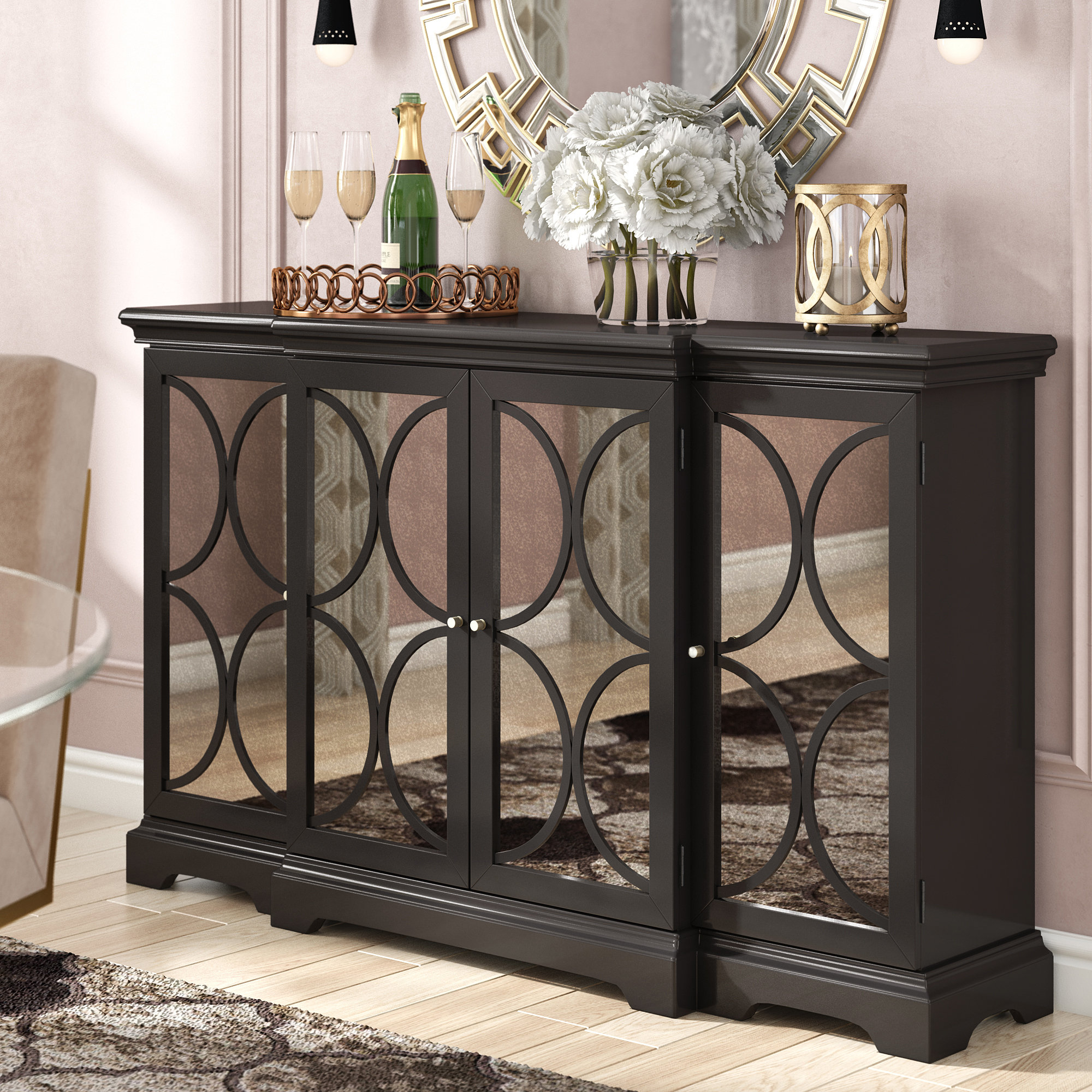 Inspiration about 4 Door Accent Cabinet | Wayfair Within Best And Newest Kara 4 Door Accent Cabinets (#11 of 20)