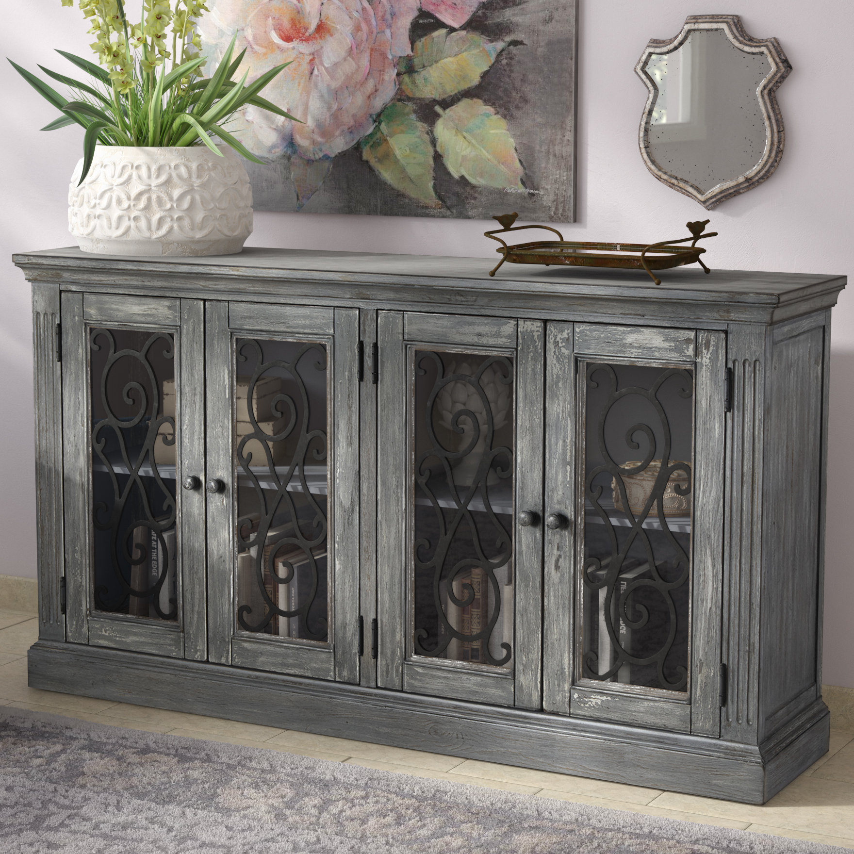 Inspiration about 4 Door Accent Cabinet | Wayfair Within Most Popular Kara 4 Door Accent Cabinets (#5 of 20)
