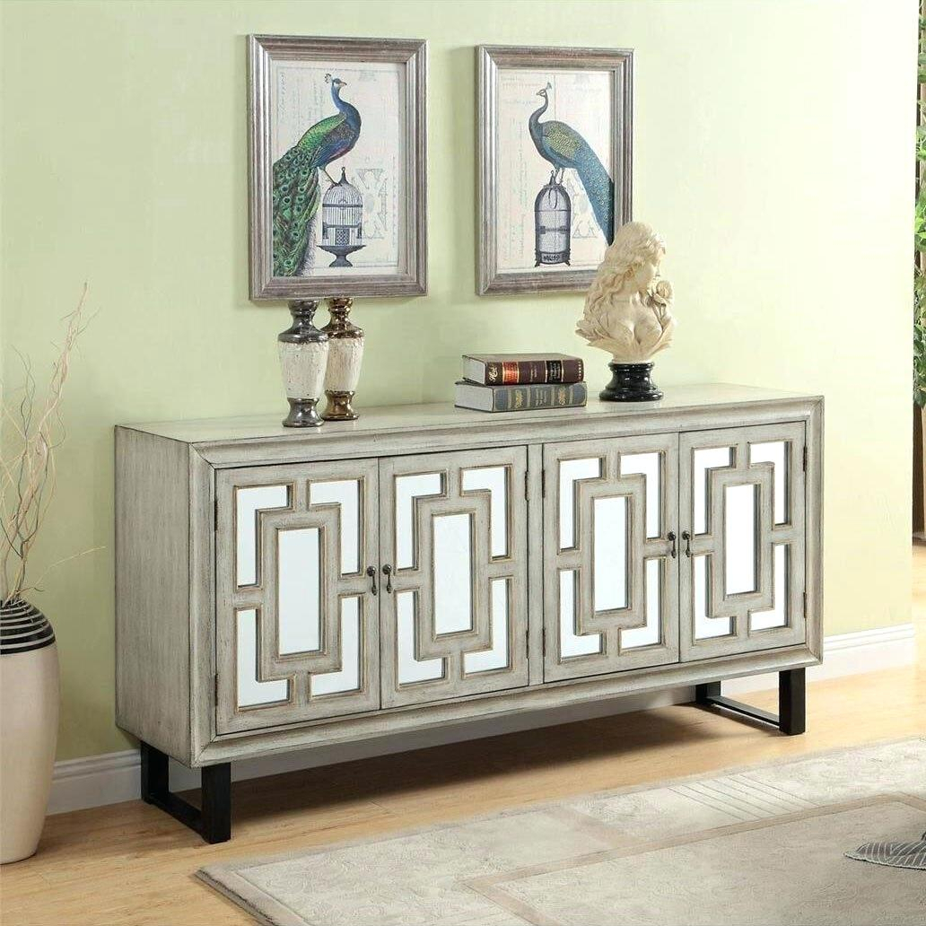 Inspiration about 4 Door Credenza – Canapes With Current Elyza Credenzas (#6 of 20)