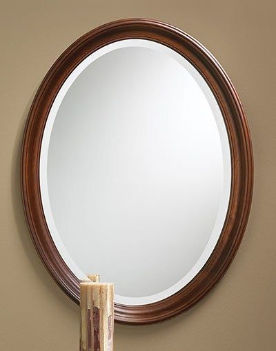 485 – Oval Mirror Features A Solid Cherry Frame With 1 Pertaining To Burnes Oval Traditional Wall Mirrors (#1 of 20)