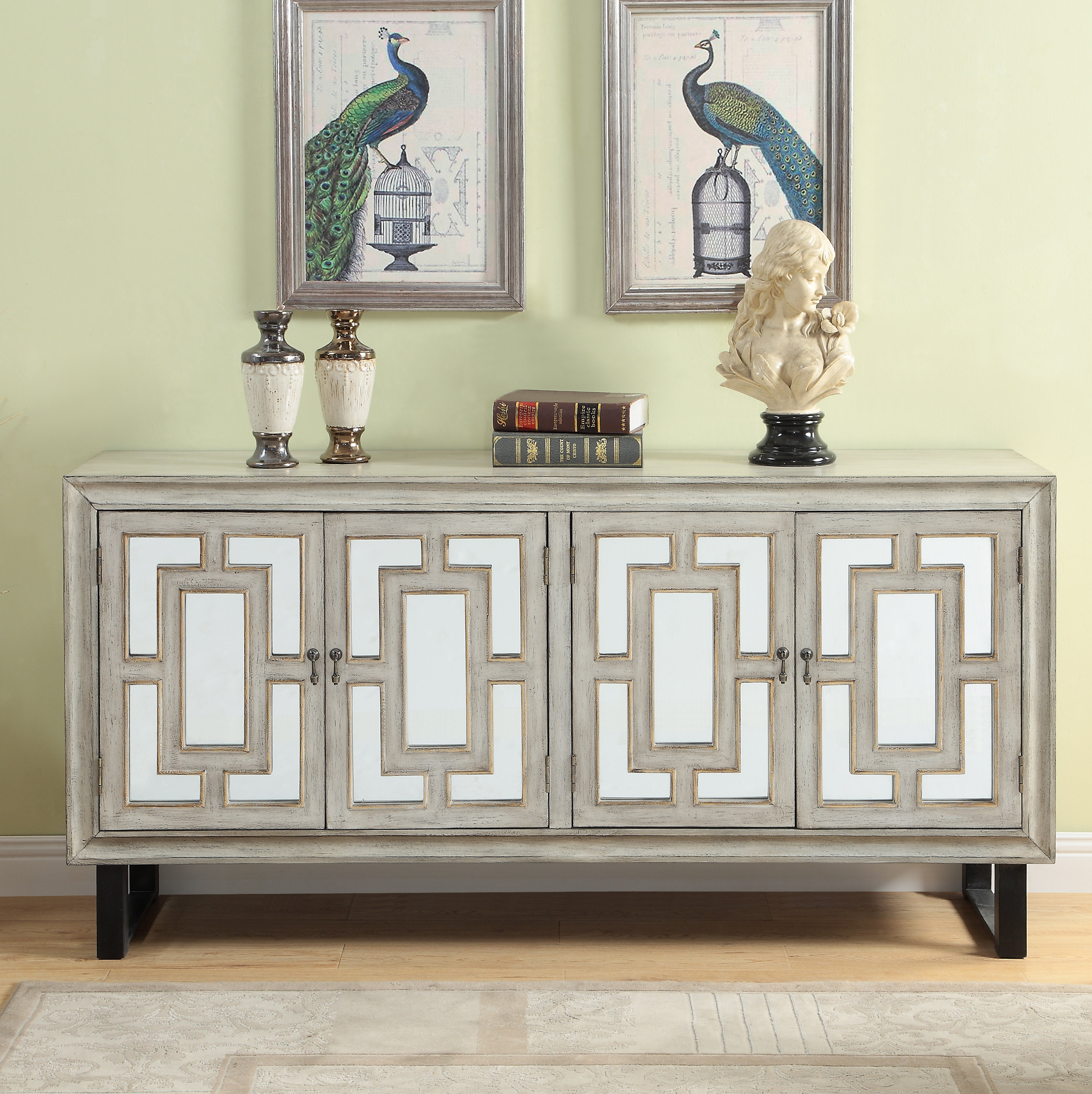 60 Inch Credenza | Wayfair Pertaining To Recent Lainey Credenzas (#2 of 20)