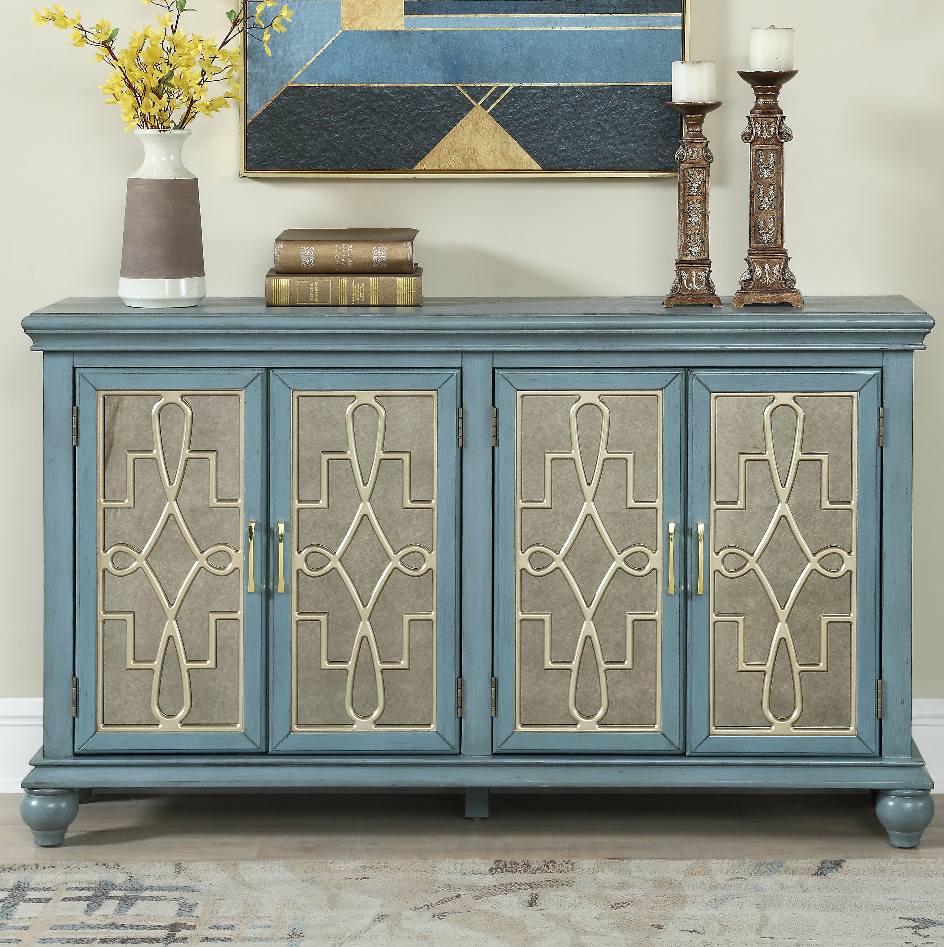 60 Inch Credenza | Wayfair Within Most Recently Released Adelbert Credenzas (#1 of 20)