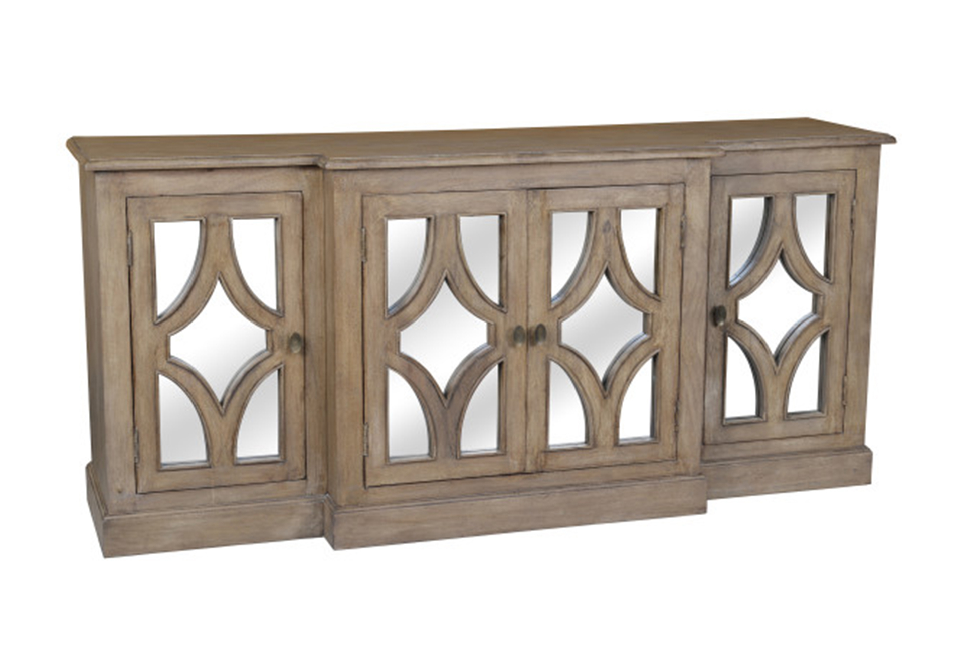 Acacia Wood 4 Door Sideboard | Products | Sideboard Regarding Most Recent Tott And Eling Sideboards (#1 of 20)