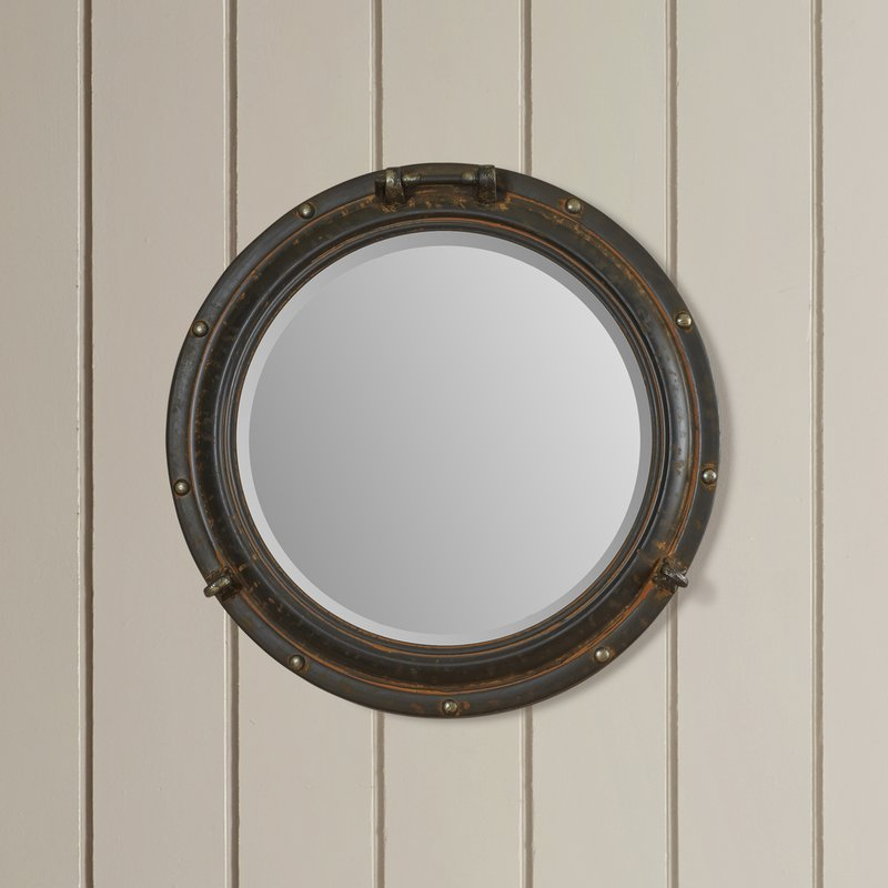 Alie Traditional Beveled Distressed Accent Mirror In Alie Traditional Beveled Distressed Accent Mirrors (#3 of 20)