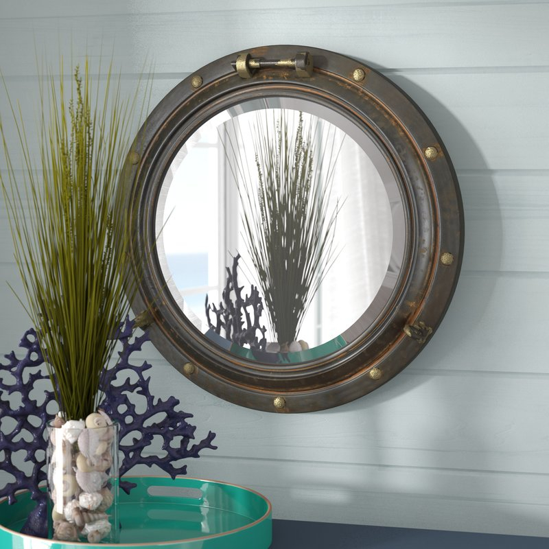 Alie Traditional Beveled Distressed Accent Mirror With Alie Traditional Beveled Distressed Accent Mirrors (#11 of 20)