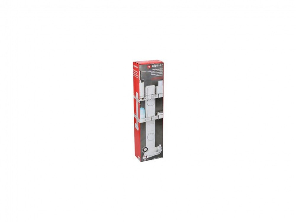 Alpina 90147 Wall Organizer With 2 Shelves 30x11x3cm Intended For Hallas Wall Organizer Mirrors (View 19 of 20)
