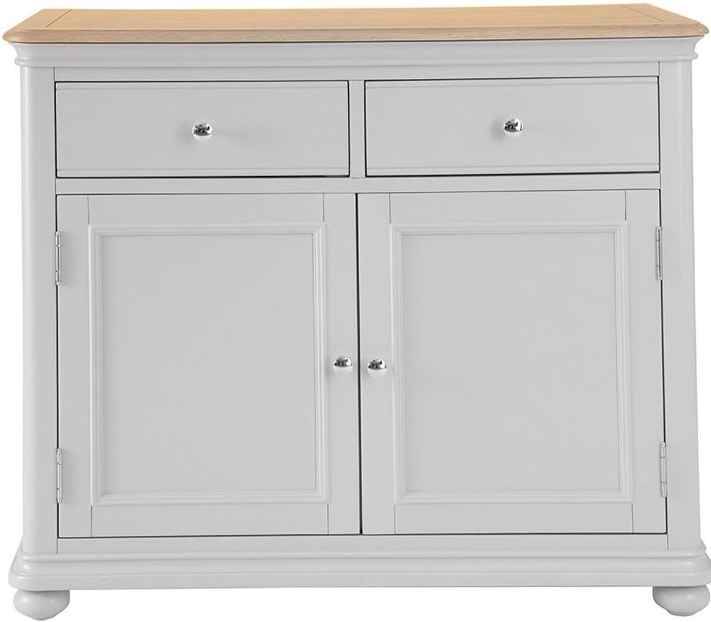 Annecy Medium Sideboard – Oak And Soft Grey Painted Pertaining To 2017 Annecy Sideboards (#4 of 20)