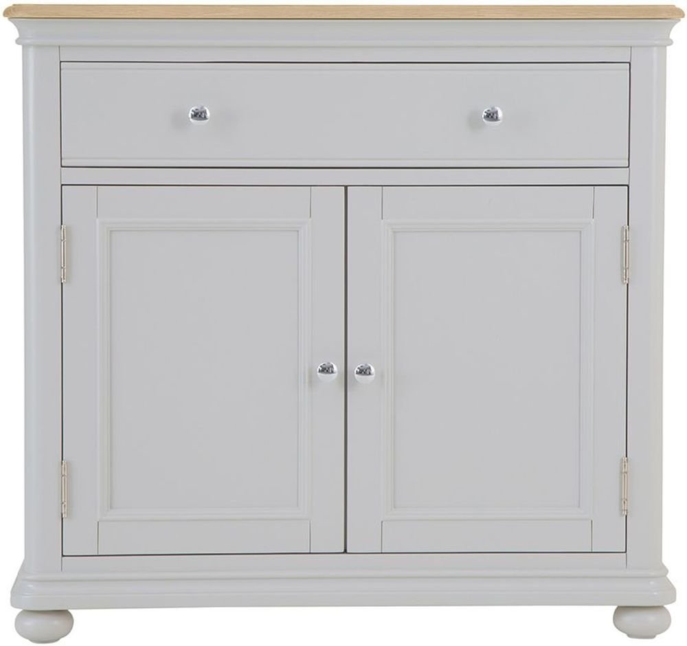 Annecy Small Sideboard – Oak And Soft Grey Painted Inside Most Up To Date Annecy Sideboards (#6 of 20)
