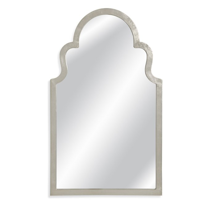 Arch Top Vertical Wall Mirror Throughout Dariel Tall Arched Scalloped Wall Mirrors (#4 of 20)