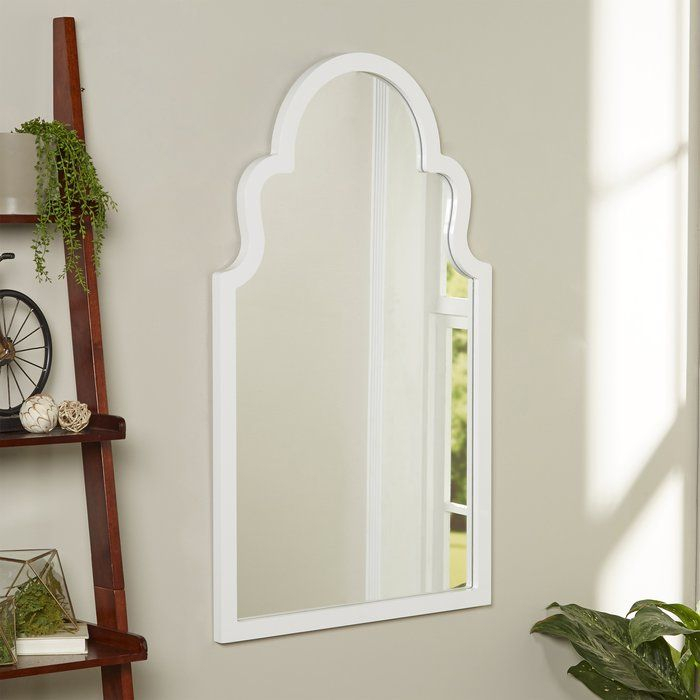 Arch Vertical Wall Mirror | Bathroom Remodeling | Rustic With Dariel Tall Arched Scalloped Wall Mirrors (#7 of 20)