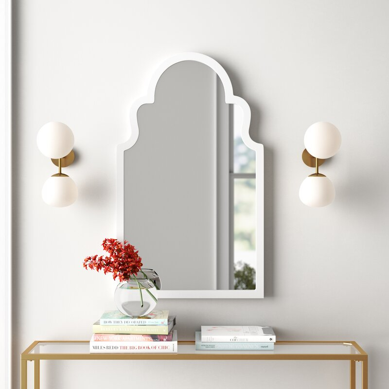 Arch Vertical Wall Mirror Intended For Dariel Tall Arched Scalloped Wall Mirrors (#6 of 20)