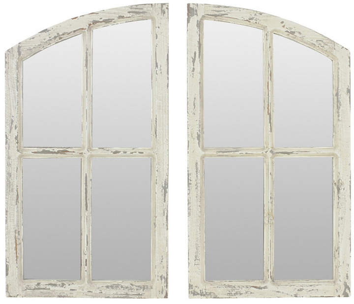 Aspire Home Accents Jolene Arch Window Pane Mirrors (Set Of With Regard To 2 Piece Kissena Window Pane Accent Mirror Sets (#10 of 20)