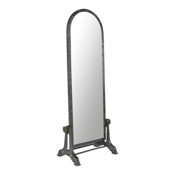 Aurelle Home Dark Grey Industrial Full Length Mirror Within Industrial Full Length Mirrors (#3 of 20)