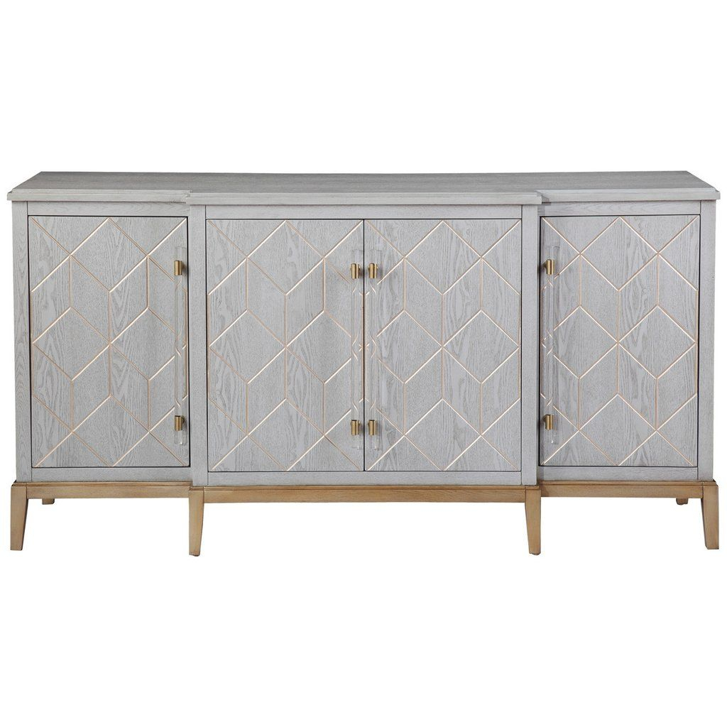 Bassett Mirror Company Perrine Server | House | Sideboard Regarding Newest Rosson Sideboards (#3 of 20)