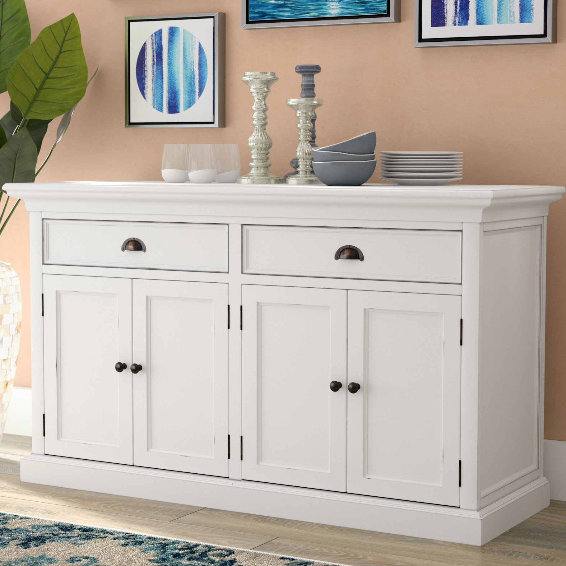 Beachcrest Home Amityville Wood Sideboard & Reviews | Wayfair Throughout 2018 Raunds Sideboards (View 15 of 20)