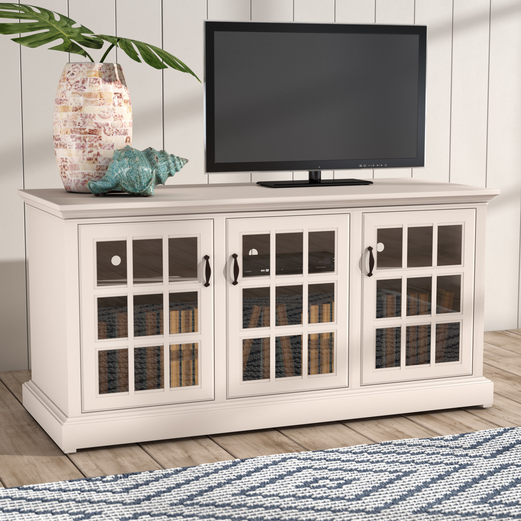 """Beachcrest Home Dartmouth Tv Stand For Tvs Up To 43 For Most Up To Date Colefax Vintage Tv Stands For Tvs Up To 78"""" (#1 of 20)"""
