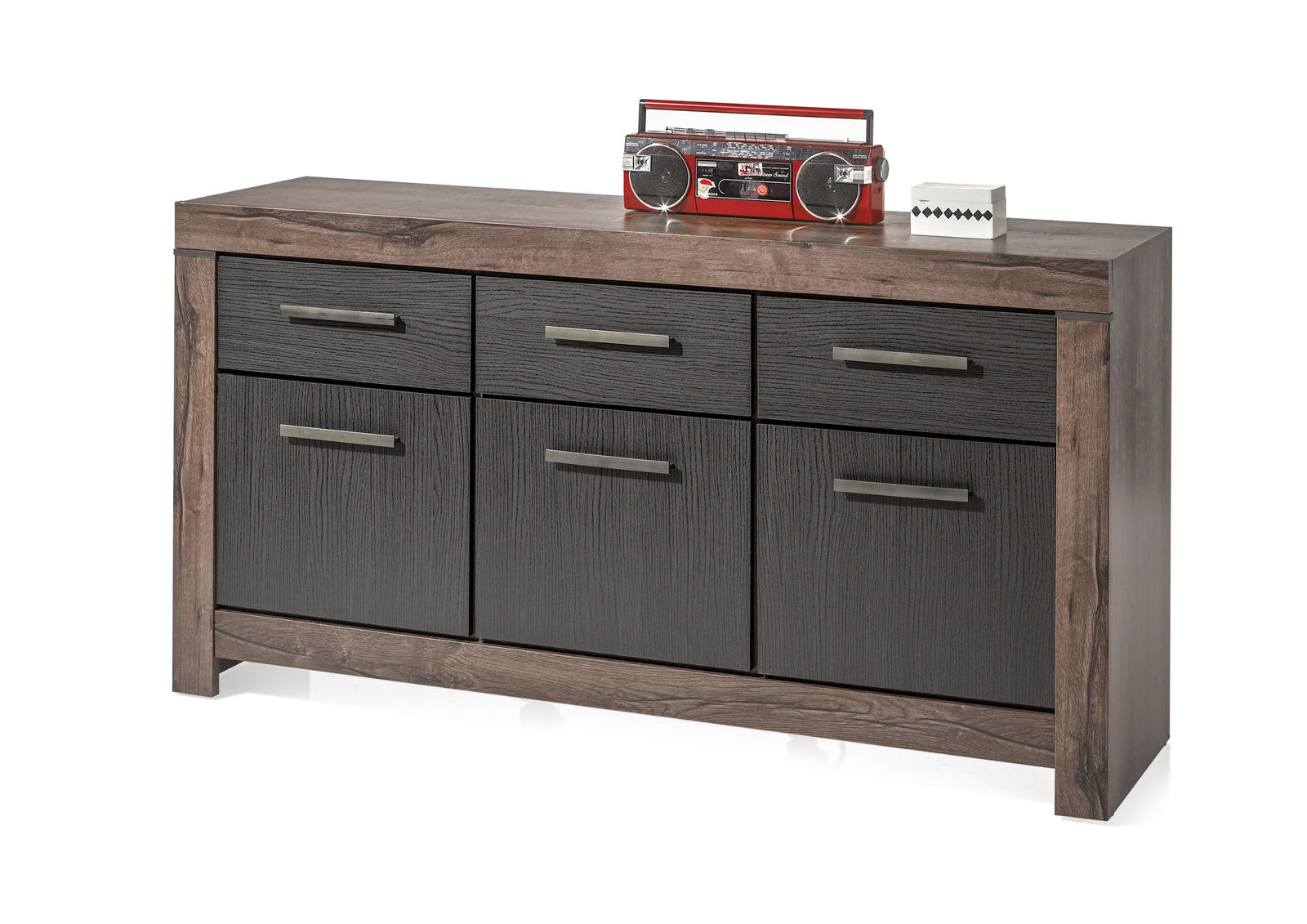 Bega ( Balin ) Sideboard In Eiche Canyon/ Schwarzeiche Within Most Recently Released Norton Sideboards (#2 of 20)