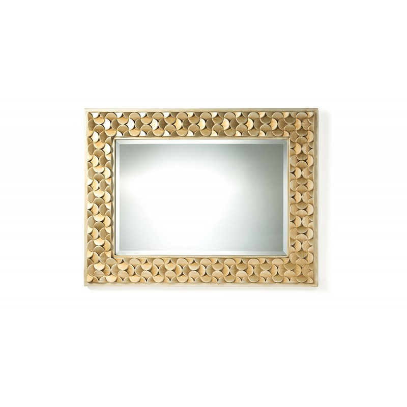 Benner Contemporary Golden Finish Rectangle Accent Wall Mirror With Regard To Rectangle Accent Wall Mirrors (View 19 of 20)