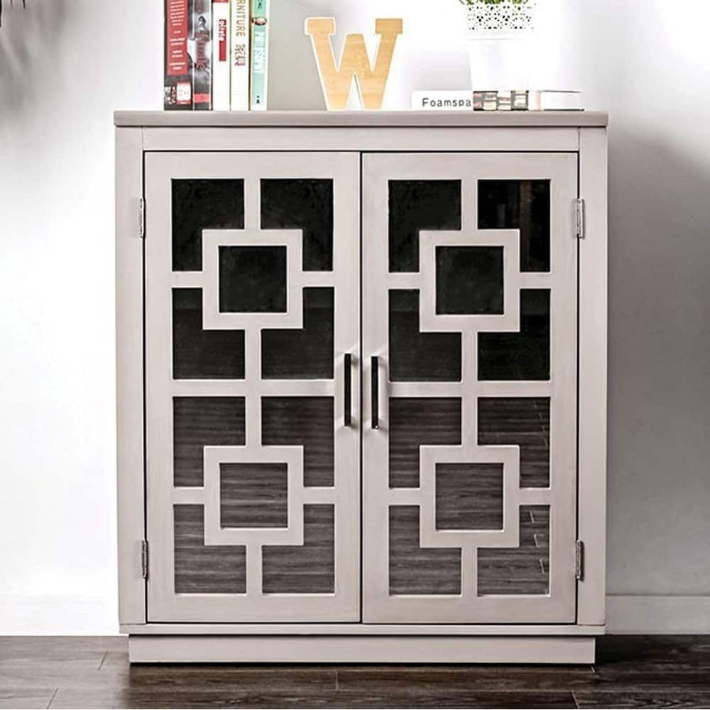 Benzara Lora Contemporary Hallway Cabinet, Gray | Products In Recent Candace Door Credenzas (View 10 of 20)