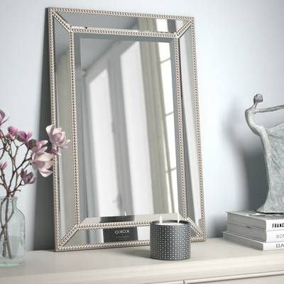 Beveled Beaded Accent Wall Mirror In 2019 | Bathroom Ideas In Eriq Framed Wall Mirrors (#7 of 20)