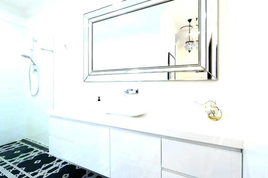 Beveled Mirrors For Bathroom Large Wall Mirror Unframed With Regard To Wallingford Large Frameless Wall Mirrors (View 18 of 20)
