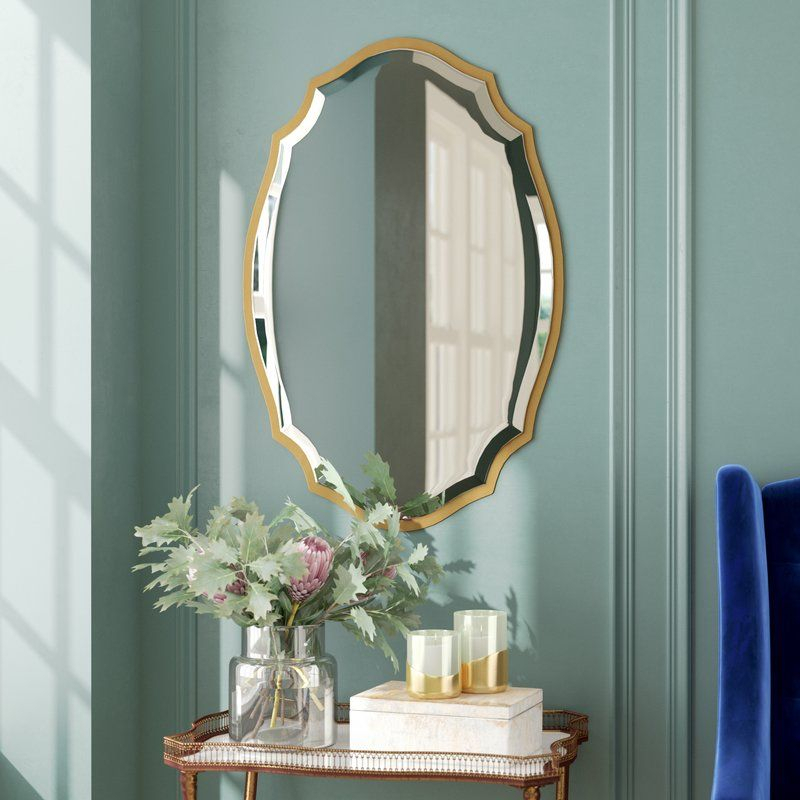 Blaisdell Horizontal Traditional Gold Accent Mirror | Dining Throughout Broadmeadow Glam Accent Wall Mirrors (View 12 of 20)