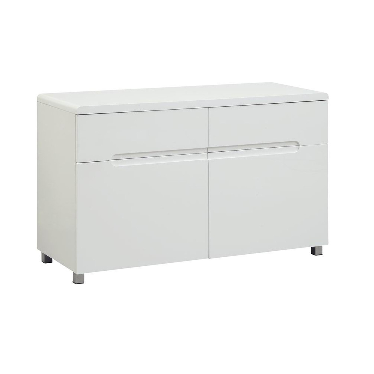 Blanco Gloss Sideboard With Regard To 2017 Thite Sideboards (View 2 of 20)