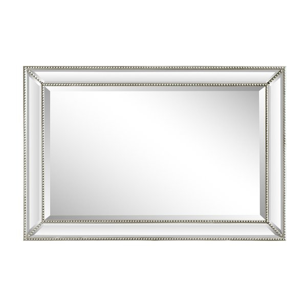 Boland Rectangle Beaded Frame Accent Mirror Pertaining To Silver Frame Accent Mirrors (#6 of 20)