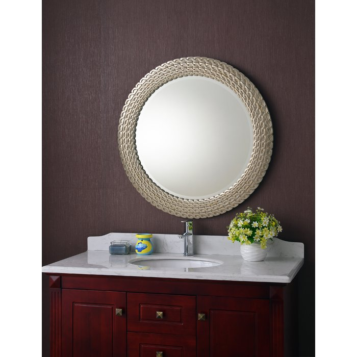 Bracelet Traditional Accent Mirror Inside Point Reyes Molten Round Wall Mirrors (#4 of 20)
