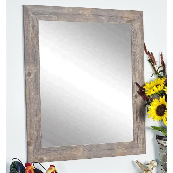 Brandtworks Rustic Wild West Brown Barnwood Decorative Throughout Glynis Wild West Accent Mirrors (View 7 of 20)