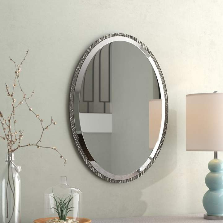 Brayden Studio Oval Polished Nickel Wall Mirror In 2019 Pertaining To Point Reyes Molten Round Wall Mirrors (#5 of 20)