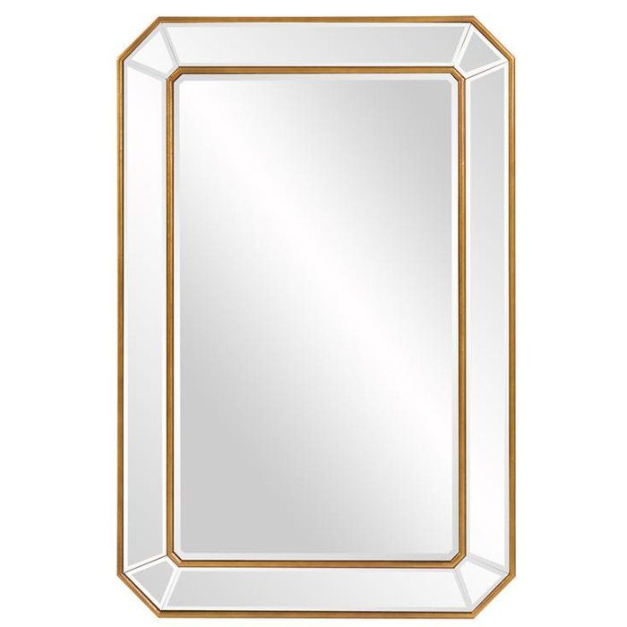 Briley Rectangle Gold Angled Accent Wall Mirror In 2019 Intended For Rectangle Accent Wall Mirrors (View 12 of 20)