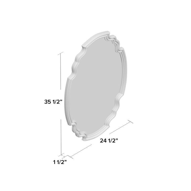Broadmeadow Glam Accent Wall Mirror Intended For Broadmeadow Glam Accent Wall Mirrors (View 4 of 20)