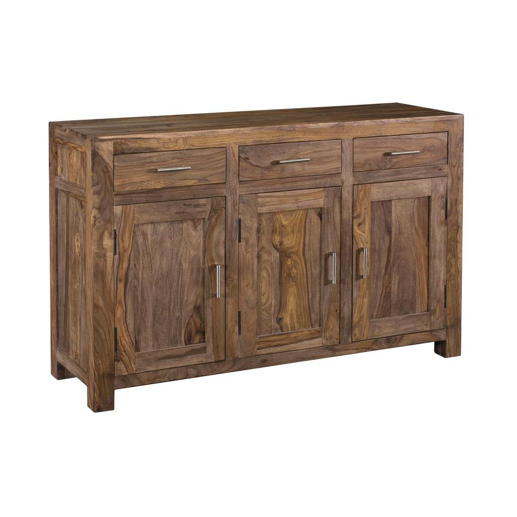 Inspiration about Brownstone Nut Brown Three Door Three Drawer Sideboard For 2018 Armelle Sideboards (#10 of 20)