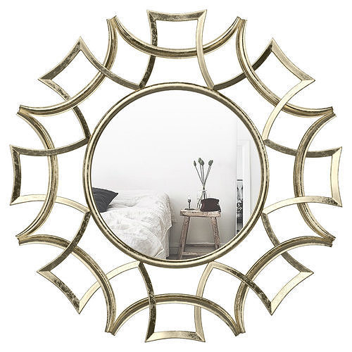 Brylee Traditional Sunburst Mirror Wrlo6935 | 3D Model With Brylee Traditional Sunburst Mirrors (#11 of 20)