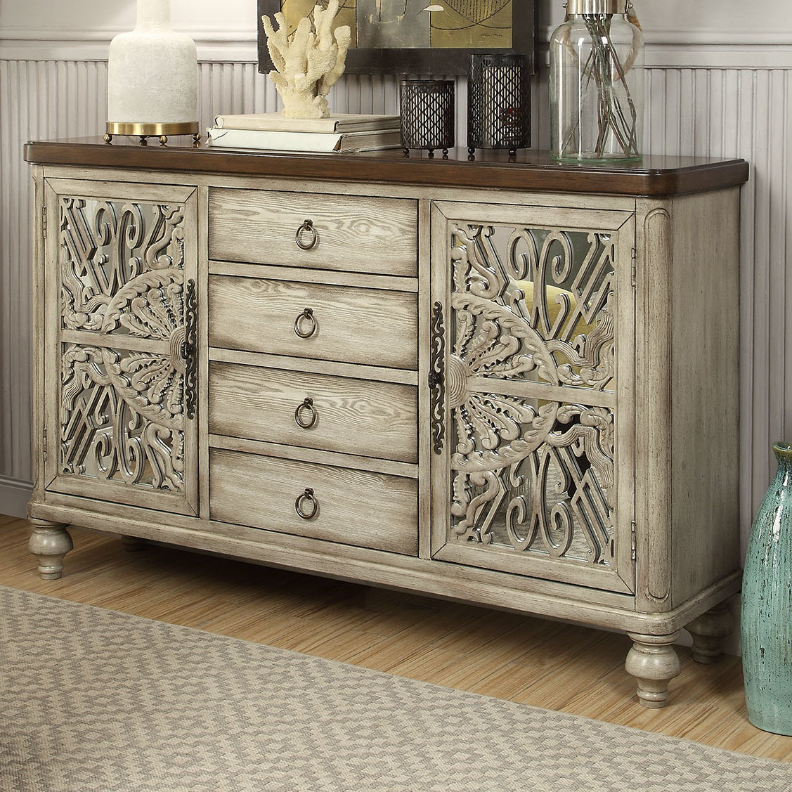 Bungalow Rose Dillen Sideboard & Reviews | Wayfair Pertaining To Best And Newest Deville Russelle Sideboards (#3 of 20)