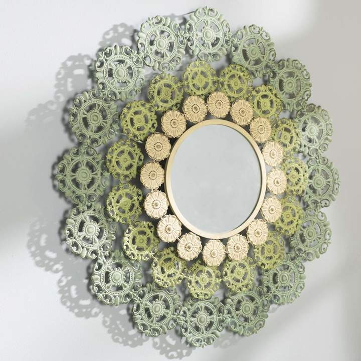 Bungalow Rose Engelhardt Medallion Accent Mirror In 2019 Inside Round Eclectic Accent Mirrors (#1 of 20)