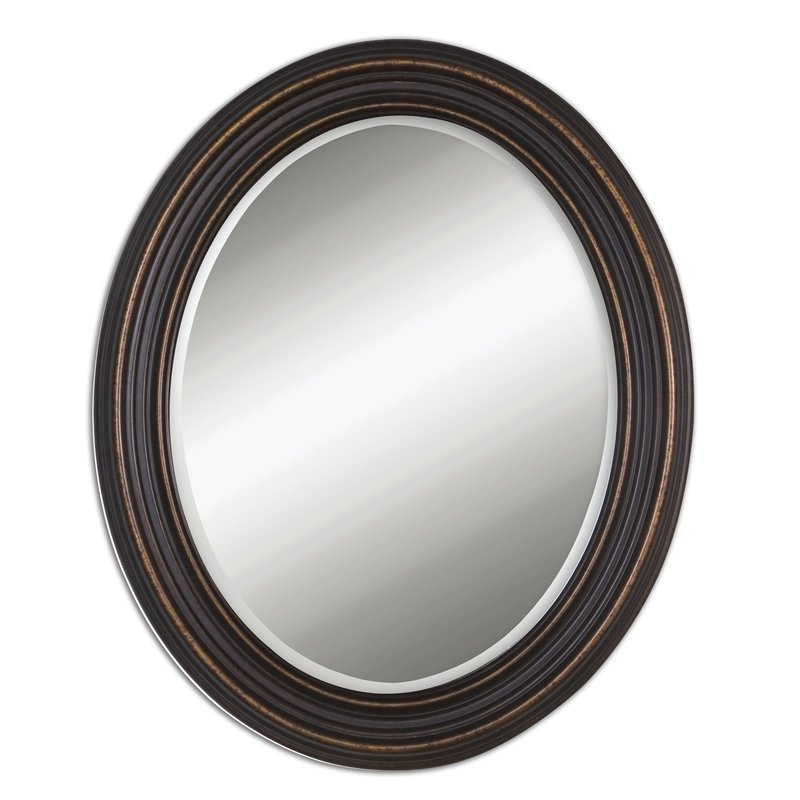 Burnes Oval Traditional Wall Mirror In Burnes Oval Traditional Wall Mirrors (#3 of 20)