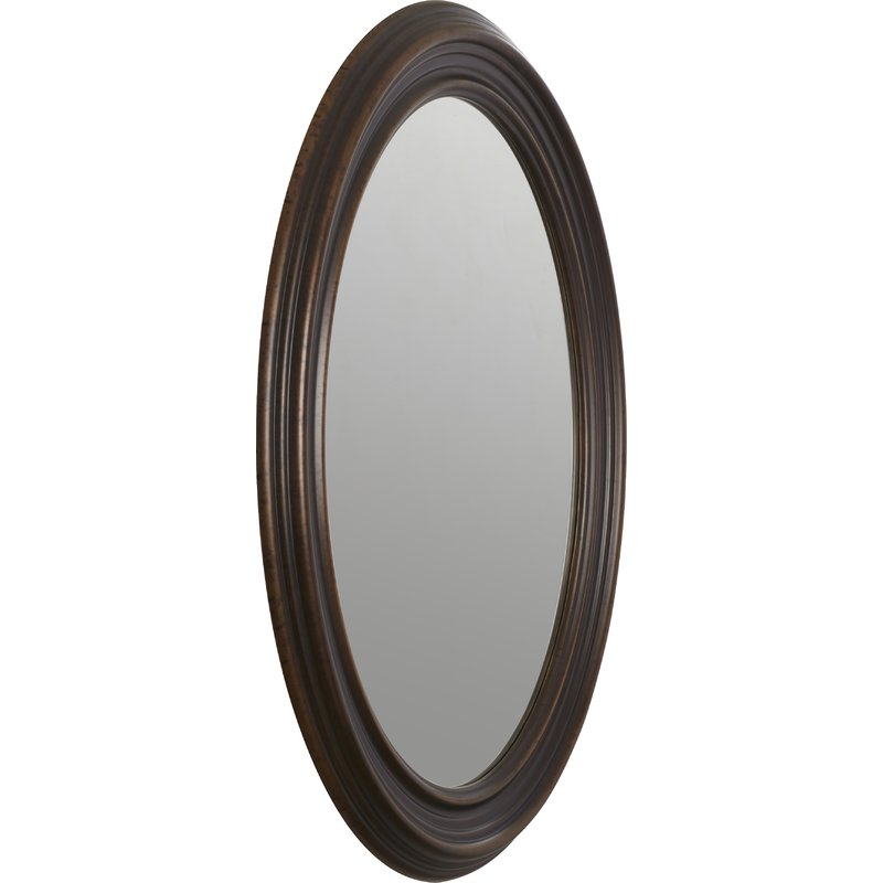 Burnes Oval Traditional Wall Mirror Throughout Burnes Oval Traditional Wall Mirrors (#6 of 20)
