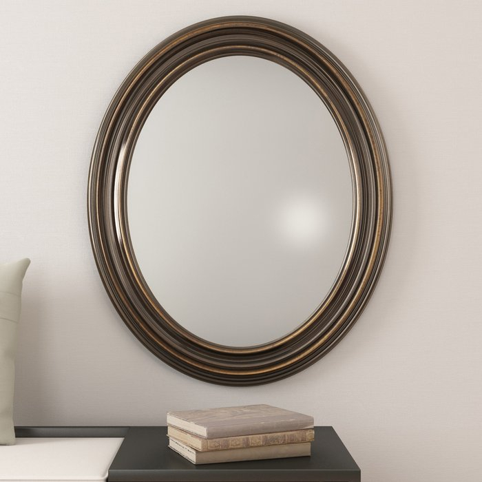 Burnes Oval Traditional Wall Mirror With Burnes Oval Traditional Wall Mirrors (#7 of 20)