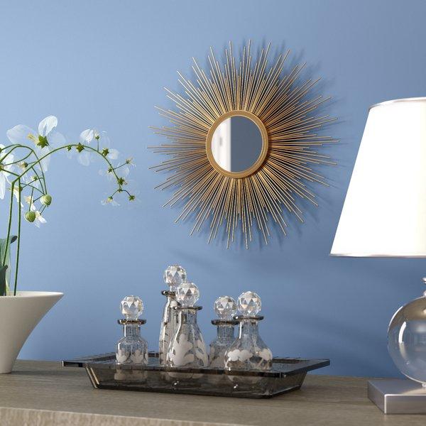 Burst Mirror | Wayfair Throughout Brylee Traditional Sunburst Mirrors (View 12 of 20)