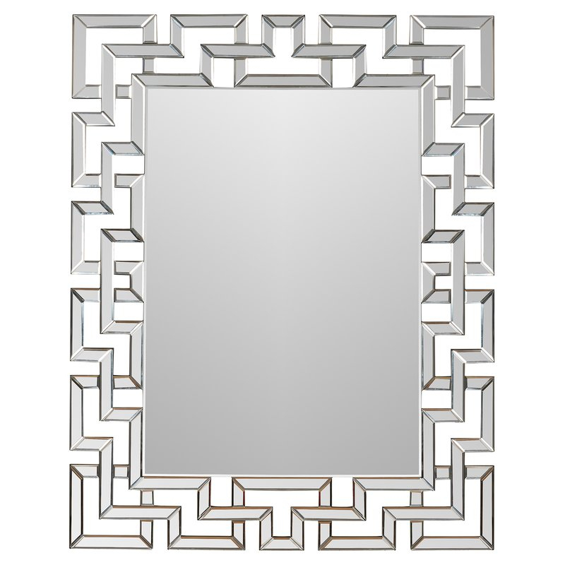 Caja Rectangle Glass Frame Wall Mirror Inside Caja Rectangle Glass Frame Wall Mirrors (#1 of 20)