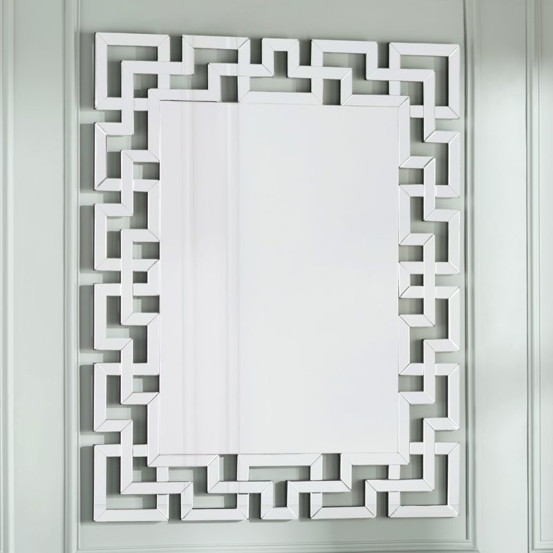 Caja Rectangle Glass Frame Wall Mirror Regarding Caja Rectangle Glass Frame Wall Mirrors (#4 of 20)
