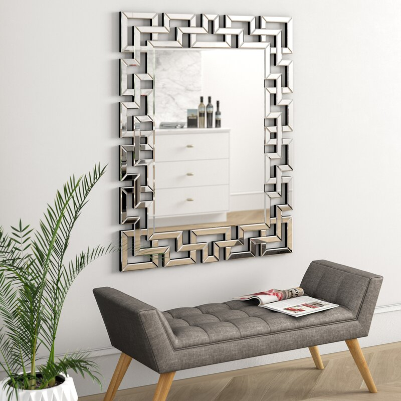 Caja Rectangle Glass Frame Wall Mirror With Regard To Pennsburg Rectangle Wall Mirrors (#3 of 20)