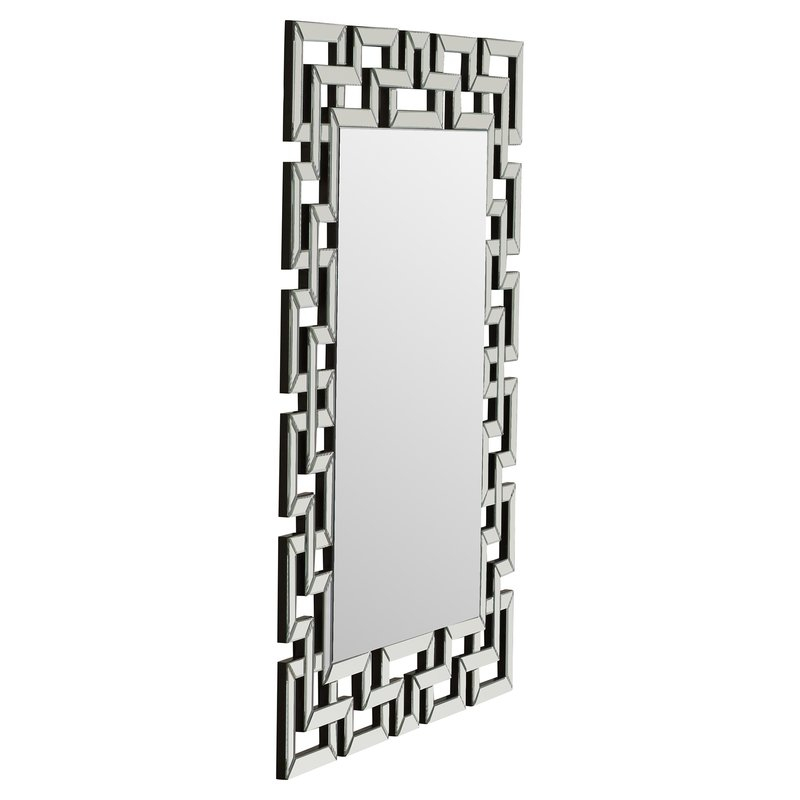 Caja Rectangle Glass Frame Wall Mirror Within Caja Rectangle Glass Frame Wall Mirrors (#8 of 20)