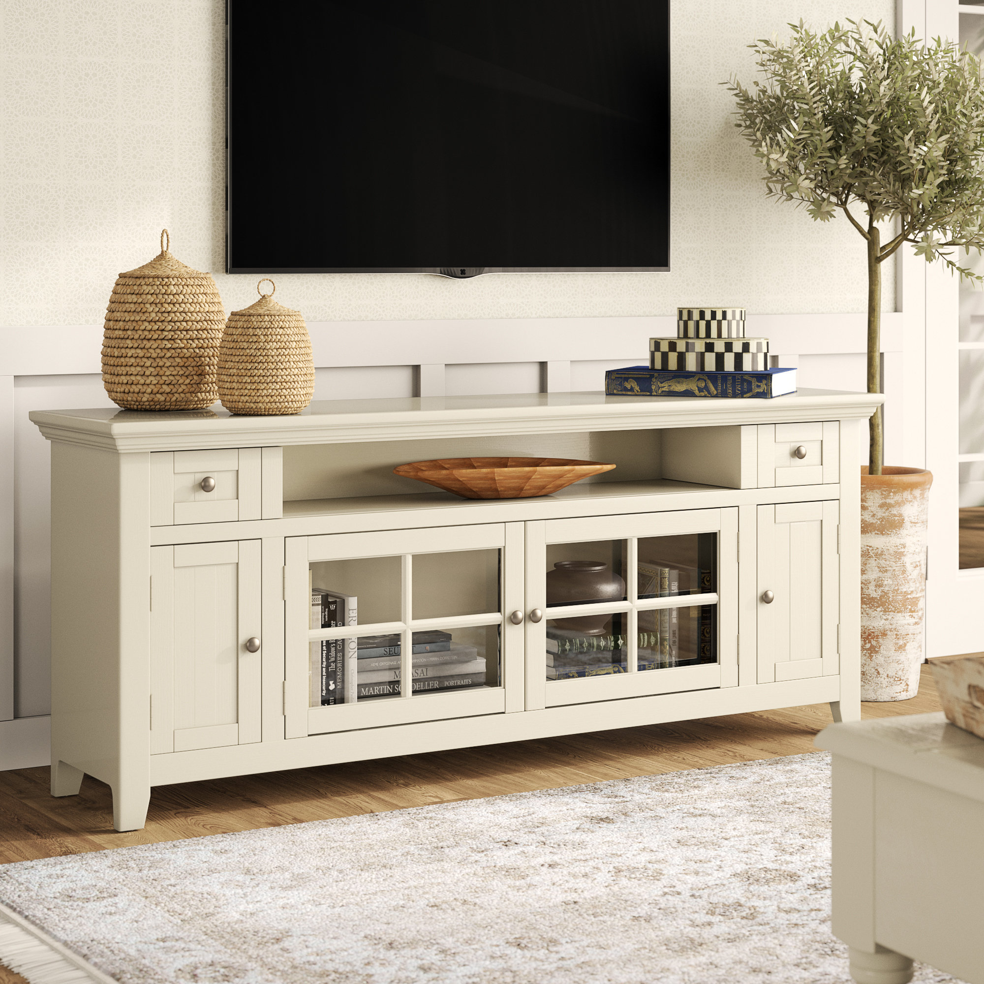 """Calila Tv Stand For Tvs Up To 70"""" Intended For Most Up To Date Colefax Vintage Tv Stands For Tvs Up To 78"""" (#3 of 20)"""