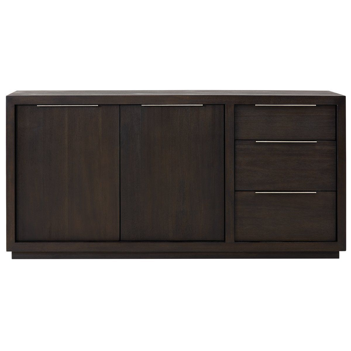 Candide Dark Gray Wood Credenza | Dining Room | Grey Wood With Most Popular Candide Wood Credenzas (View 4 of 20)
