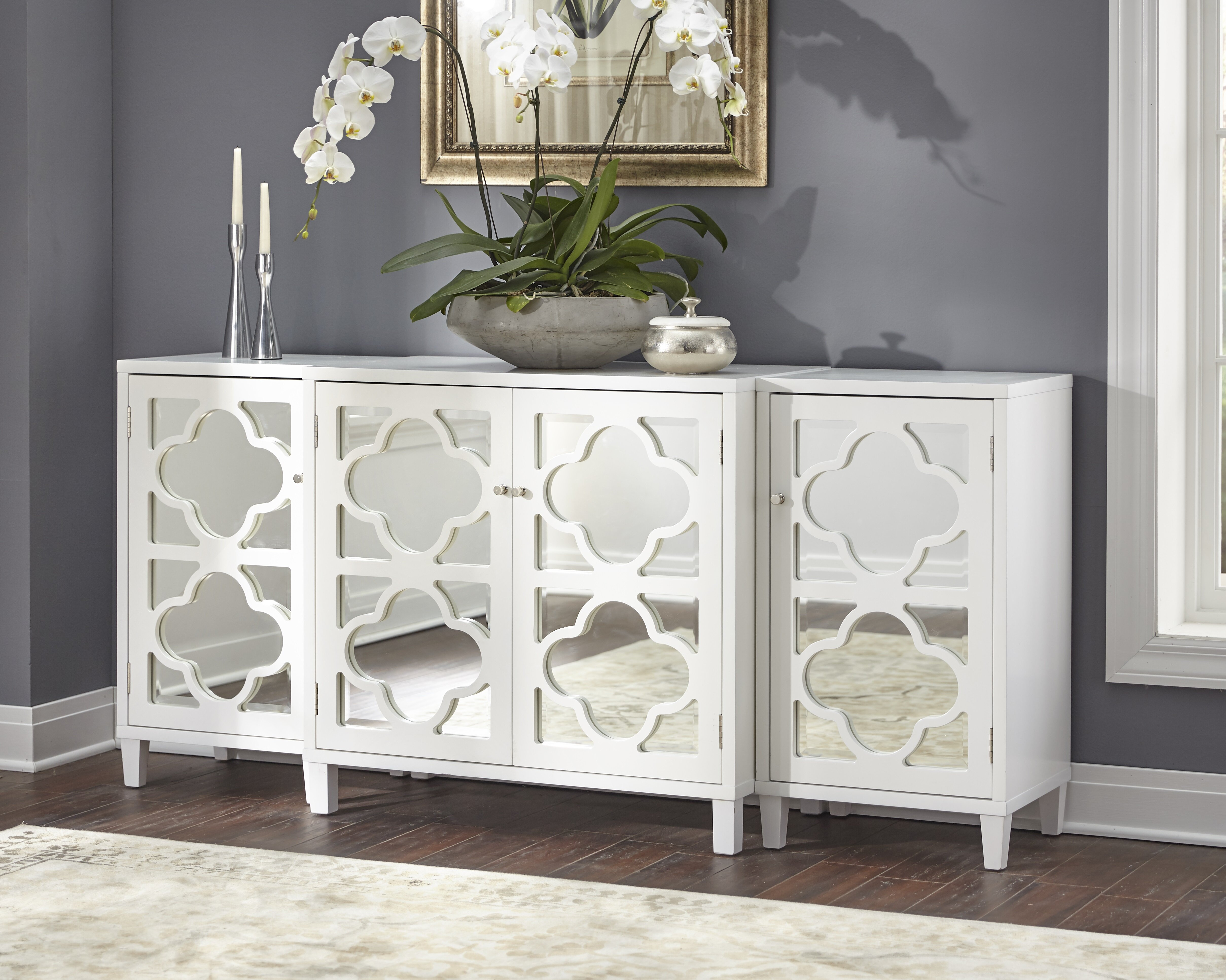 Charlton Home Gordy Mirrored 3 Piece Sideboard Set | Wayfair Inside Most Current Joyner Sideboards (View 7 of 20)