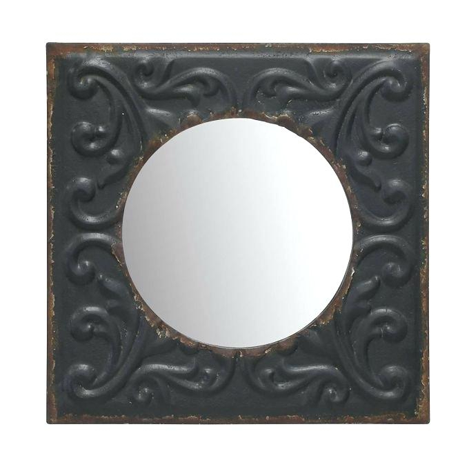 Charming Round Wood Wall Mirror Framed Vanity For Oval Wood Wall Mirrors (#4 of 20)
